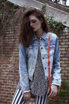 Cinco looks perfectos para lucir la tendencia de la temporada el grunge: chaqueta vaquera de Denim & Supply