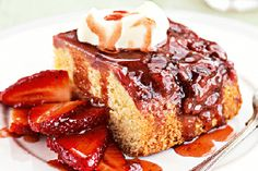 Strawberry syrup cake - Cakes & Baking - Dessert - Food & recipes - Recipes - New Zealand Woman's Weekly Strawberry Orange Smoothie, Strawberry Syrup, Strawberry Recipes, Baking Recipes, Cake Recipes, Dessert Recipes, Dessert Food, Smoothie Ingredients, Cake Ingredients