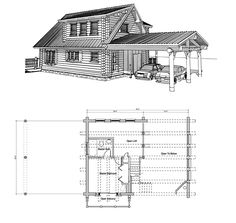 house plans with porches - Cabin Floor Plans