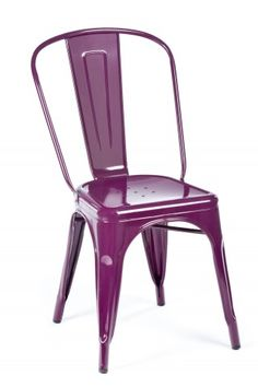Industry West Marais A Side Chair in plum