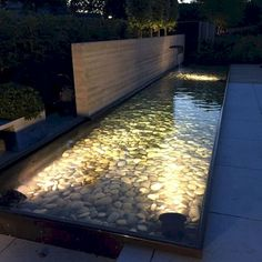 Most popular pond and water garden ideas for beautiful backyard 20 remodeling and renovation of modern garden design with modern planting landscaping 2019 holzgarten garden fence with wood and gabions fence gabions garden Modern Water Feature, Outdoor Water Features, Backyard Water Feature, Water Features In The Garden, Ponds Backyard, Backyard Landscaping, Diy Water Feature, Landscape Plans, Landscape Design
