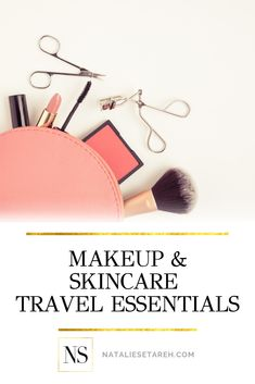 Beauty On The Go: Packing Tips From a Pro Traveler - Natalie Setareh Quick Makeup, Best Makeup Tips, Simple Makeup, Best Makeup Products, Makeup Hacks, Makeup Ideas, Beauty Products, Clear Mascara, Minimalist Makeup