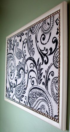Items similar to Decorative Bulletin Board - Memo Board - 17 x Large with Nail Trim on Etsy Memo Boards, Bulletin Boards, Fabric Bulletin Board, Cork Boards, Easy Home Decor, Cheap Home Decor, Diy Cork Board, Bulletins, X 23