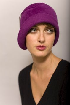 Magenta cloche made to order by yellowfield7 on Etsy, $400.00