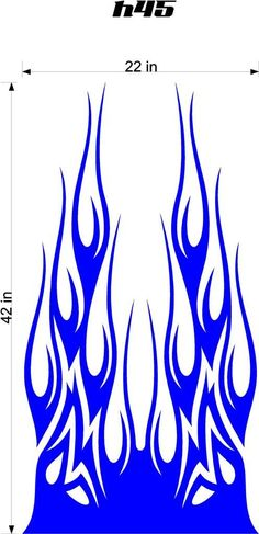 Auto Truck Car Hood Flames Stickers Graphics Decals HH45