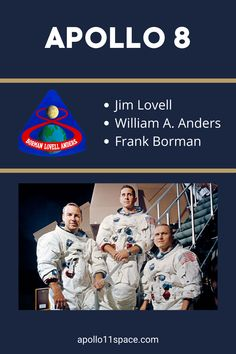 The mission of Apollo 8 and the three heroic astronauts who took on the challenge of humanity's historic first journey around the Moon. #Apollo8 Nasa Spacex, Photo Voyage, Apollo Program, Apollo Missions, Space Program, Astronauts, Space Shuttle, Space Exploration, Bologna