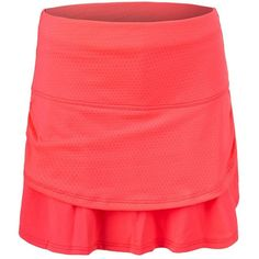 Girls, get ready to be at the top of your game in the Lucky in Love Girl's Pindot Ruched Tier Tennis Skort in Coral! It features a fabulous pindot mesh strip that cinches at the hip under a wide waistband, while the bottom layer provides a nice flow with each step or sprint you take. The built-in short brings an added sense of security.