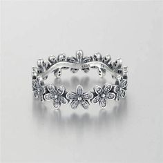 Daisy Flower Ring and/or Earrings Set S925 Silver New like