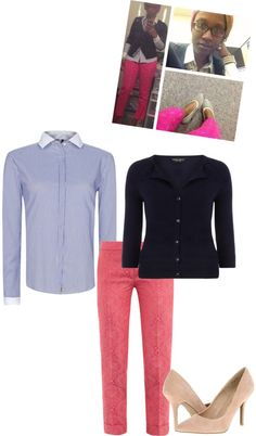 """Just Another Work Day"" by b-ayesha on Polyvore"