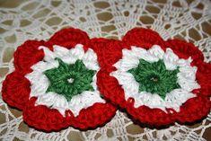Kokárda - tündértanya.blog.hu Crochet Angel Pattern, Free Pattern, Diy And Crafts, Crochet Earrings, Applique, Blanket, Holiday Decor, Blog, Christmas
