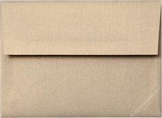 "A-6 Gold Leaf Metallic Envelopes (4 3/4"" x 6 1/2"")"