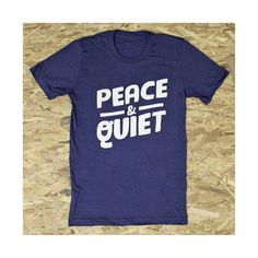PEACE & QUIET shirt. navy tshirt. by kinshipgoods on Etsy