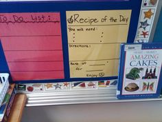 Read cook book and write your own recipe.
