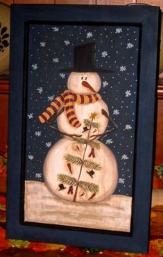 painted snowmen on cabinet doors - Google Search