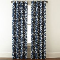 jcp | Liz Claiborne Avery Floral Grommet-Top Black Out Curtain Panel