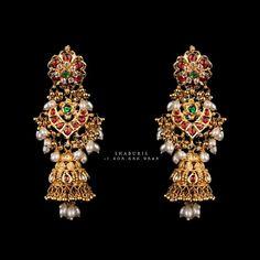 Buy Earrings, Jewelry Design Earrings, Gold Earrings Designs, Gold Jewellery Design, Designer Earrings, Gold Jewelry, Earrings Online, Handmade Jewellery, Silver Earrings