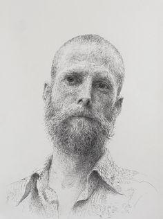 Artist Sam Kim (Korean: 1981) - 도수천의 초상 Portrait of Dustin (2015)  Best chef. 댄디핑크의 요리사 장.