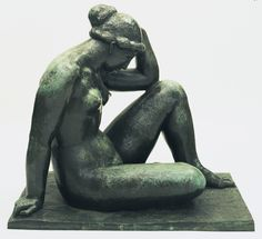 aristide maillol(1861-1944), the mediterranean, 1902-05 (cast c. 1951-53). bronze, 104.1 x 114.3 x 75.6 cm. the museum of modern art, new york, usa https://www.moma.org/collection/works/81068?locale=en