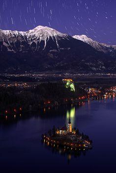 Impressive photo of the stunning Lake Bled, Slovenia.