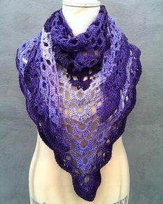 Crocheted shawl by Helle Slente Design/House of Yarn - Europris My Design, House Design, Crochet Shawl, Shawls, Free Pattern, Fashion, Threading, Moda, Fashion Styles
