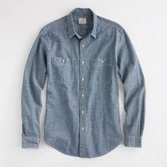J. Crew: Factory blue chambray workshirt ($60)