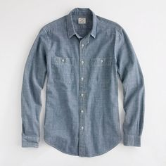 J. Crew: Factory blue chambray workshirt ($60)