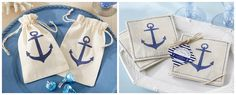 Anchor Muslin Favors Nautical Wedding Favors, Anchor, Tableware, Dinnerware, Tablewares, Anchor Bolt, Dishes, Place Settings, Nautical Party Favors