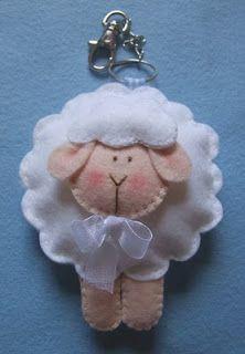 Felt lamb ornie