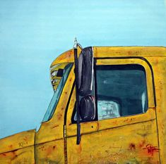 This is a heavy equipment service truck.  I painted  it at a rural Tennessee road construction site.