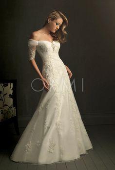 Vestido de noiva Comprimento Pavimento com o Botão Estilo clássico Chiques