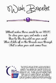 Cassi Selby: Relay For Life Wish Bracelets an easy DIY fundraiser!