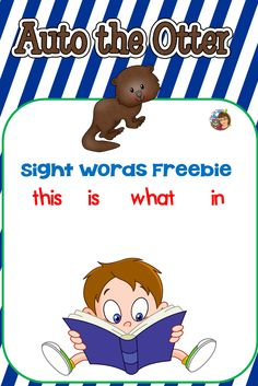 Auto the Otter is the mascot for learning sight words for automaticity which helps emergent readers read efficiently. Learning Sight Words, Emergent Readers, Ten Frames, Online Sites, New Teachers, Learn To Read, Otters, Literacy, Education