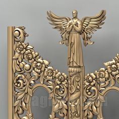 3D model of Holy door for CNC production (Detail)