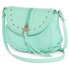 Betseyville Ruched Crossbody Bag In Mint Jcpenney