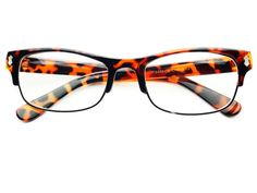 02ad5237e3 Reading Style Clear Half Frame Glasses Tortoise – FREYRS - Beautifully  designed