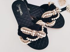 Chanel Pearl slippers Cruise 2016
