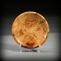Black cherry burl plate by Ray Asselin & Wooden plate Maple Burl Wood Plate with Turquoise by TurningTime ...