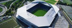 Soccer Stadium, Football Stadiums, Osaka, Stadium Architecture, Red Star Belgrade, Nottingham Forest, Saint Etienne, Arquitetura, Borussia Dortmund