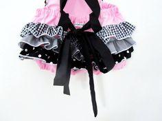 Retro Ruffler - Rocker Pink - Overalls - Jumper - Girl - Photo prop
