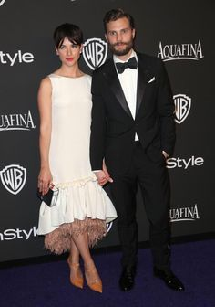 Jamie Dornan and wife Amelia Warner at the 2015 Golden Globes After Party everythingjamiedornan.com http://www.facebook.com/everythingjamiedornan