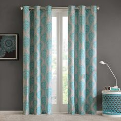 Intelligent Design 2-pack Lilly Damask Printed Curtains