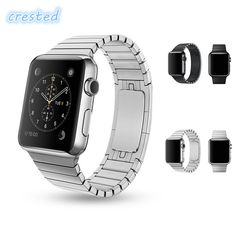 19.99$  Buy here - http://aliez6.shopchina.info/1/go.php?t=32815518995 - CRESTED Stainless Steel watch strap for Apple Watch Band 42 mm/38  Link Chain Arc Clasp Watch Bracelet Strap Belt for iwatch  #aliexpress