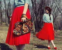 Red skirt2 (by Shan  Shan) http://lookbook.nu/look/3278941-red-skirt2