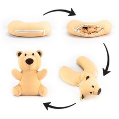 The Buddy Bear Convertible Neck Pillow and Stuffed Animal Travel Pal is your kid. The Buddy Bear Convertible Neck Pillow and Stuffed Animal Travel Pal is your kid's perfect travel companion! Teddy Bear Gifts, Teddy Bear Toys, Cute Teddy Bears, Kids Travel Pillows, Kids Pillows, Animal Pillows, Neck Pillow Travel, Travel With Kids, Traveling By Yourself