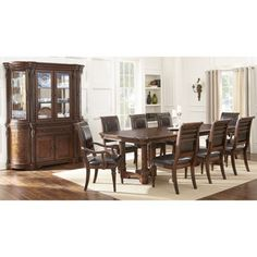 Montreat 9 Piece Dining Set Features: Table And 8 Dining Chairs ($2200) |  HOME | Pinterest | Dining Sets, Dining And Dining Chairs