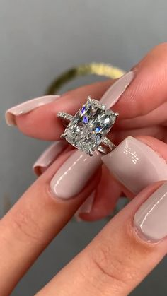 Gorgeous setting elongated shape and stunning side stones. Gorgeous setting elongated shape and stunning side stones. Elegant Engagement Rings, Engagement Ring Cuts, Rose Gold Engagement Ring, Wedding Engagement, Wedding Rings, Country Engagement, Wedding Gold, Engagement Pictures, Engagement Shoots