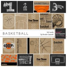 Basketball 3x4 Cards Kit by Brooke Gazarek | Pixel Scrapper digital scrapbooking