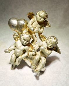 Cherubs-Cupids Brooch-Pendant Sterling Silver Kabana Art Nouveau  Vintage