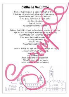 Illustrated printable lyric sheets for Mundy & Sharon Shannon's 'Galway Girl'. Galway Girl, Teacher Newsletter, Teacher Pay Teachers, Poems, Lyrics, Thing 1, Printables, Teaching, Education