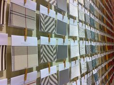 Love the fabric swatches at the Janus et Cie SF showroom